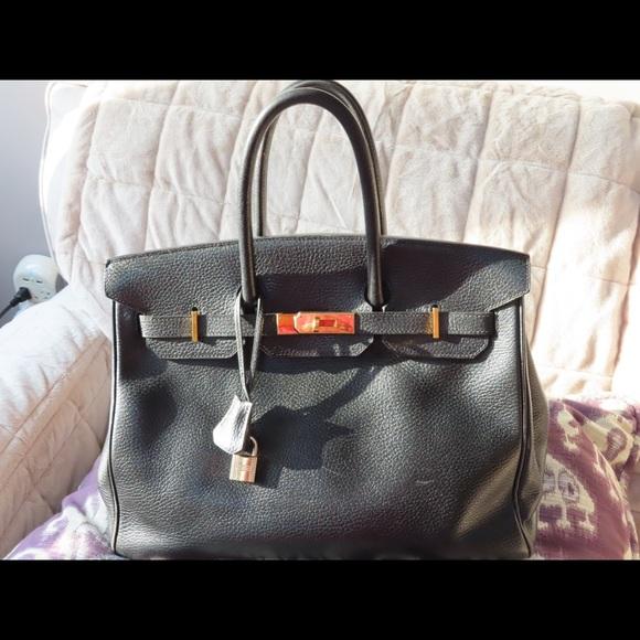 a62002a98c Hermes Handbags - Authentic Hermes Black Togo Birkin 35cm  1